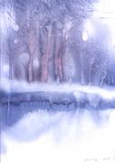 zimowa impresja  wym  21 - 15 cm