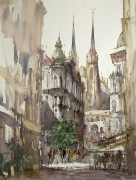 View to Cathedral, 61x46cm