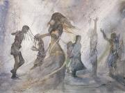 Water Dancers, 36x48cm