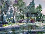 ,,Cisza - akwarelawatercolor 30 x 40 cm