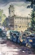 Odessa, watercolor on paper 18,5 x 28,5 cm, 2013