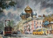 Odessa, watercolor on paper, 48 x 35 cm, 2013