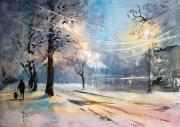 Pierwszy śnieg 48x34