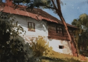 2010 biały dom 15x20 akwarela