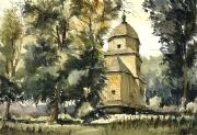 cerkiew w Korczminie akwarela 50x35 cm