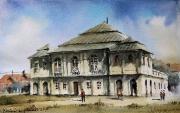 synagoga we Włodawie akwarela 30x40 cm