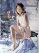 akt,akwarela,70x50(praca znajduje się na wystawie w Avignon)