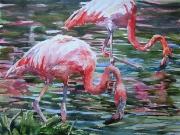 Para flamingów 30x40 cm